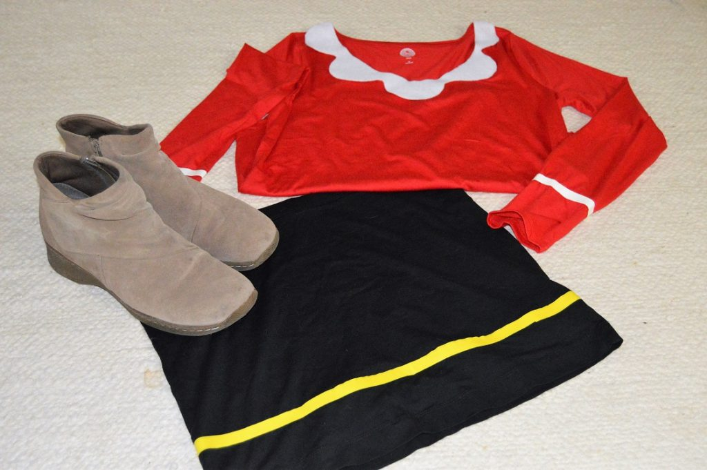 10 minute olive oyl costume living laroche life 10 minute olive oyl costume solutioingenieria Choice Image